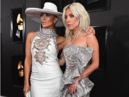 Lady Gaga and AJennifer Lopez