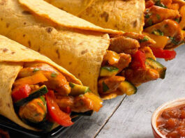 Chicken wrap with slap chips 1