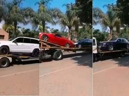 video-of-more-than-10-cars-belonging-to-Prophet-Bushiri-being-repossessed