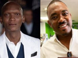 Warren Masemola and Aubrey Poo
