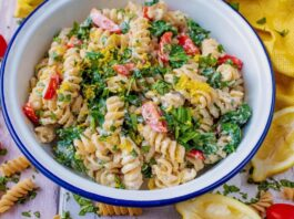 pasta and spinach bake